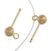 Gold-filled 14kt Ball Post with ring 3mm